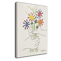 魅力的な芸術 パブロ ピカソ 花束を持つ手 アートパネル ポスター モダン 北欧 印象派 インテリア キャンバス 雑貨 おしゃれ 30*40cm