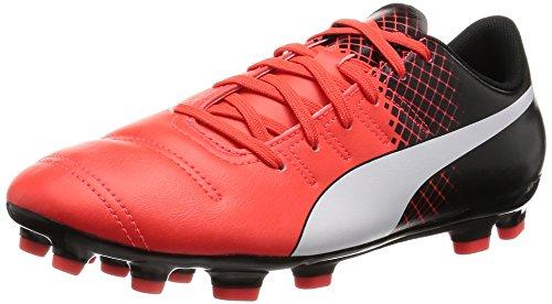Puma Evopower 4.3 Tricks Ag - Botas de fútbol Hombre, Red Blast/Puma White/Puma Black, EU 41.5 (UK 7.5)