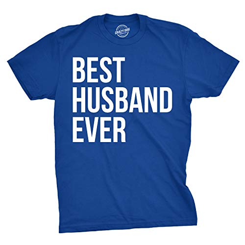 Mens Best Husband Ever T Shirt Funny Saying Novelty Tee Gift for Dad Cool Humor (Blue) - 3XL
