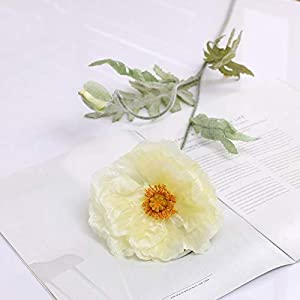 Artificial and Dried Flower 70cm Spring 2 Heads Poppy Artificial Flowers DIY Wedding Christmas Party Home Decoration Silk Flower Wall Materials