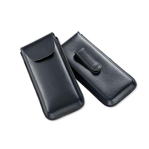 «Memphis» Estuche clásico para gafas, con clip en negro