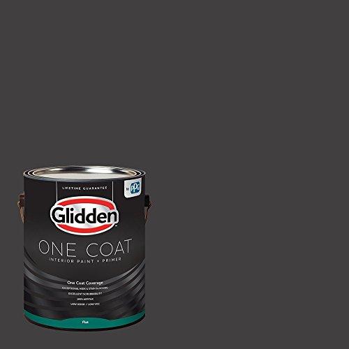 Glidden Interior Paint + Primer: Black/Black Magic, One Coat, Flat, 1-Gallon