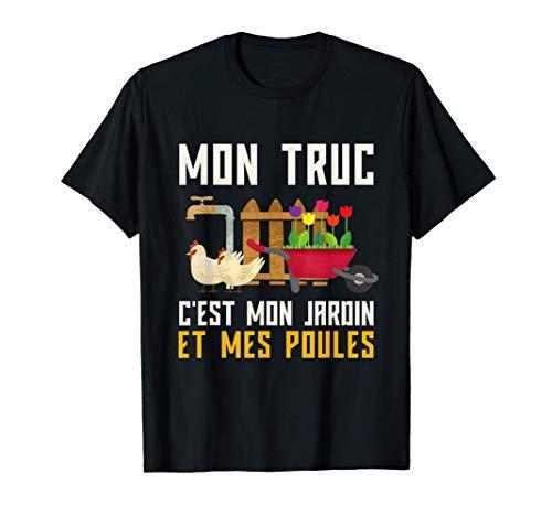 Humour Jardinage Retraite Cadeau Jardinier Poules T-Shirt