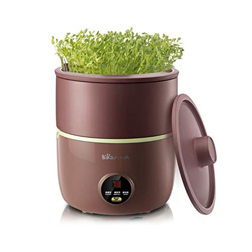 Bear Bean Sprouts Machine, Automatic Bean Sprouts Maker, Purple Clay Seed Sprouting Kit with Germination Container, Automatic Watering DYJ-B01C1,120V,20W