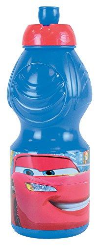 FUN HOUSE 000922 Cars Gourde Sport pour Enfant, Plastique, Rouge, 6,5 x 6,5 x 17,6 cm