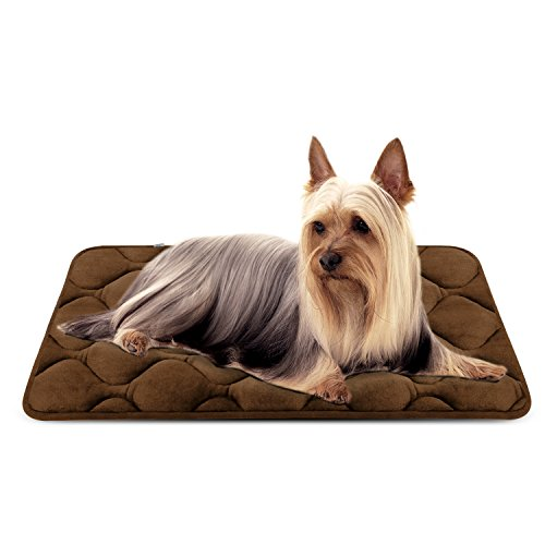 Hero Dog Small Dog Bed Mat 27 Inch Crate Pad Anti Slip Mattress Washable for Pets Sleeping (Coffee S)
