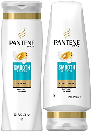 Pantene Pro-V Smooth and Sleek, DUO Set Shampoo 12.6 Ounce + Conditioner 12 Ounce, 1 Each by Pantene