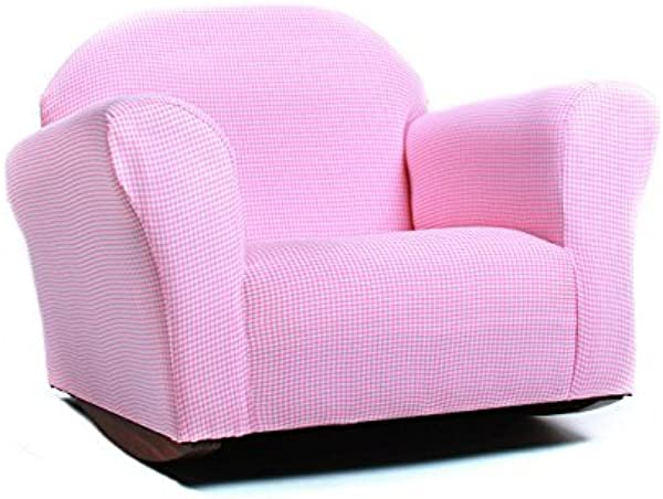 KEET Roundy Rocking Kid S Chair Gingham Pink By Keet