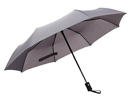 Black Temptation Automatique Rain Travel Umbrella Lightweight - Gris