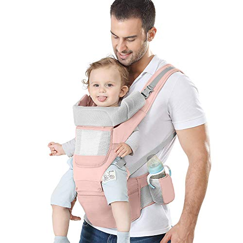 YSSKTC Baby Carrier with Lumbar Support - 360 All-Position Baby Wrap Carrier - 9-in-1 Front and Back Backpack Carrier for Baby, Toddler, Infant, Child, Newborn (7-66 Lb)