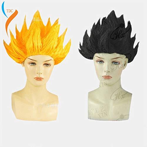 Hochwertige Goku Cosplay Perücken Dragon Balls Super Saiyajin Blau Rot Schwarz Gelb Goku Peluca Anime Männer Erwachsene Frauen Haare