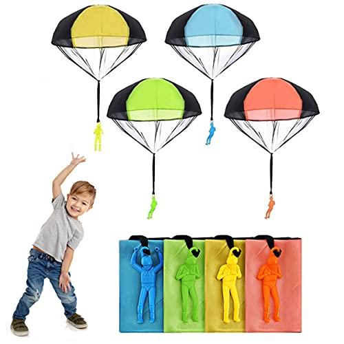 OYEFLY Fallschirm Spielzeug Kinder, Fallschirmspringer Hand werfen Fallschirm...