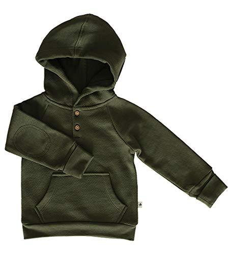 Leela Cotton Sweat-Shirt à Capuche en Coton Bio pour bébé - Vert - 86 cm/92 cm