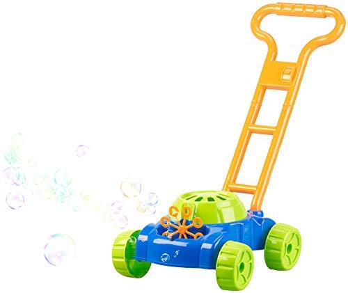 infactory Spielzeug: Batteriebetriebene Seifenblasen-Maschine im Rasenmäher-Look (Seifenblasen Hochzeit)