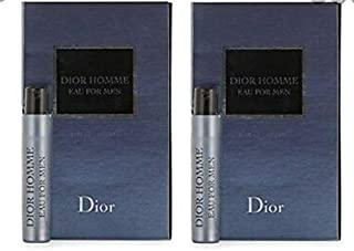 Christian Dior Dior Homme Eau For Men Sample-Vials For Men 0.03 oz EDT *Lot Of 2* *Free Name Brand Sample Vial With Every Order*