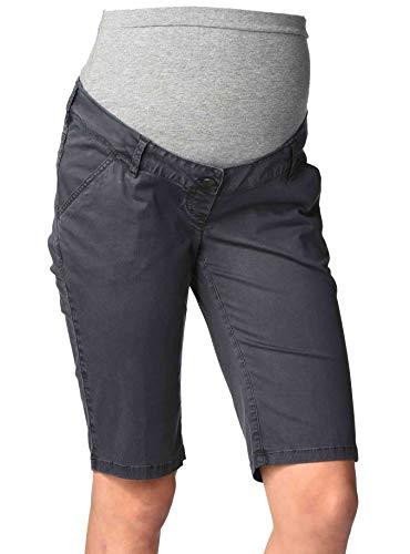 Christoff Capri-Hose Schwangerschaftsjeans Umstandshose Jeans Rügen - Skinny Slim - elastisches Bauchband - 836-89 - Charcoal-Gray - Gr. 34