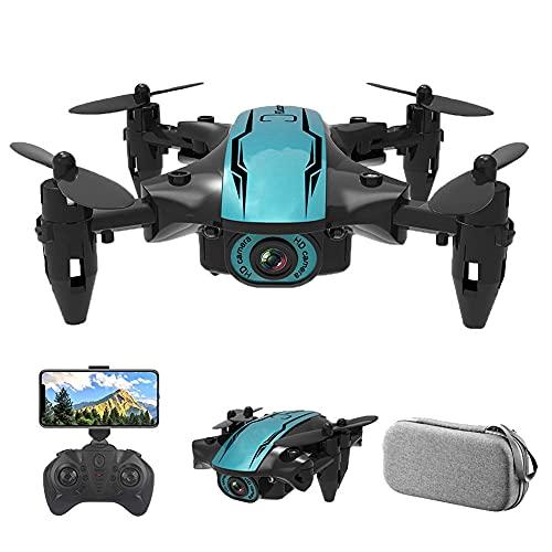 JJDSN Mini dron Plegable con cámara HD 1080P FPV WiFi RC Quadcopter, Control de Gestos, Vuelo de trayectoria, Vuelo Circular, rotación de Alta Velocidad, Volteretas 3D, Sensor G, para Adultos y pr