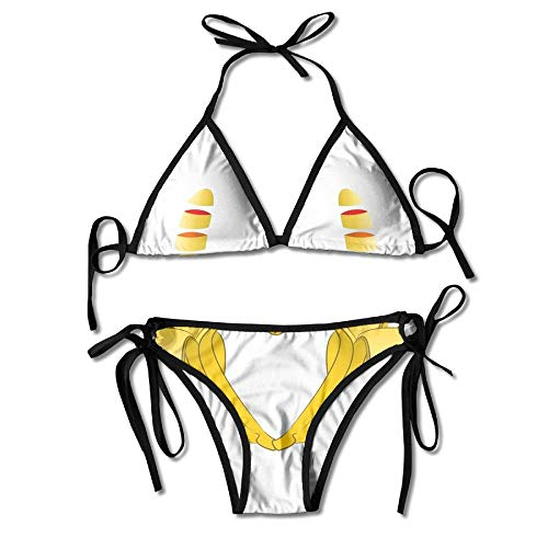 Bowling Sport Sign Bikini Women's Summer Swimwear Triangle Top Bikinis Swimsuit Sexy 2-Piece Set