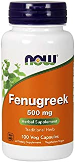 NOW FOODS Now FOENUGREEK 500MG, 100 CT