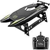 GoolRC RC Boat for Kids and Adults, 25KM/H High Speed Racing Boat, 2 Channels 2.4Ghz Remote Control Boats with Dual Motors for Pools and Lakes (Black)