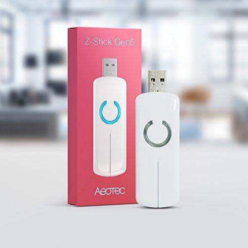 Aeotec Z-Stick Gen5 Z-Wave Hub Z-Wave Plus USB to Create Gateway (Ordinary White)