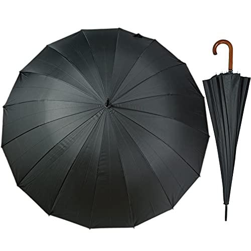 J.S ONDO Paraguas Largo Hombre Mujer, Paraguas Plegable Automático Grande, 16 Varillas...