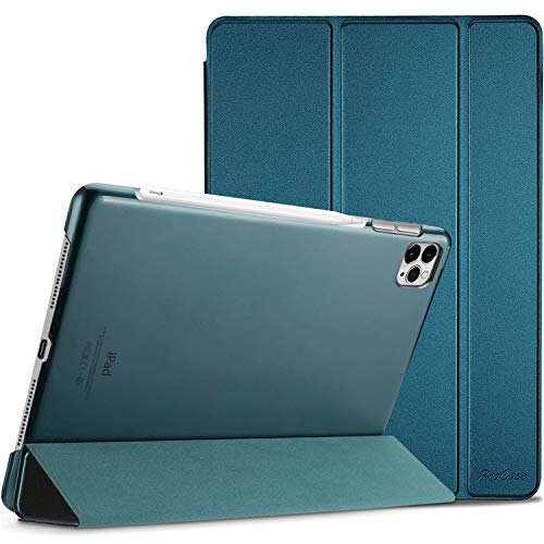 "ProCase iPad Pro 12.9 Case 4th Generation 2020 & 2018, [Support Apple Pencil 2 Charging] Slim Stand Hard Back Shell Smart Cover for iPad Pro 12.9"" 4th Gen 2020 / iPad Pro 12.9"" 3rd Gen 2018 –Teal"