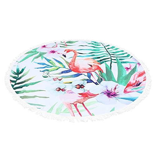 IMIKEYA Toalla de Playa Hermosa Redonda Impresa de Fibra de Playa Manta de Yoga Redonda Mantón de Playa para Adultos