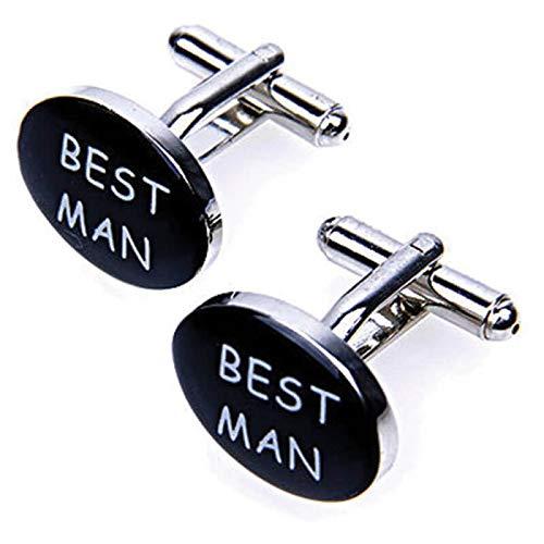 LA BELLE MANCHETTE Best Man Manschettenknöpfe, oval, Herren
