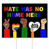 Little FootPrint Hate Has No Home Here Yard Sign with Stakes...