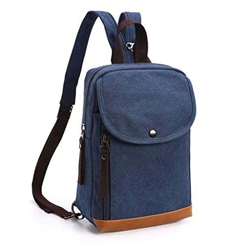 GFDFD Einbruchsichere Business-Laptop-Rucksack nehmen College-Wasserdichtes Zip Canvas Rucksack (Color : B)