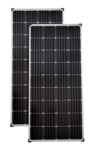 solartronics Solarmodule 2 Stück 150 Watt Mono Solarpanel Solarzelle Photovoltaik 90660