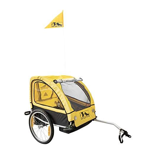M-Wave Alu-Kinder und Gepäck-Fahrradanhänger, gelb, 20 Zoll