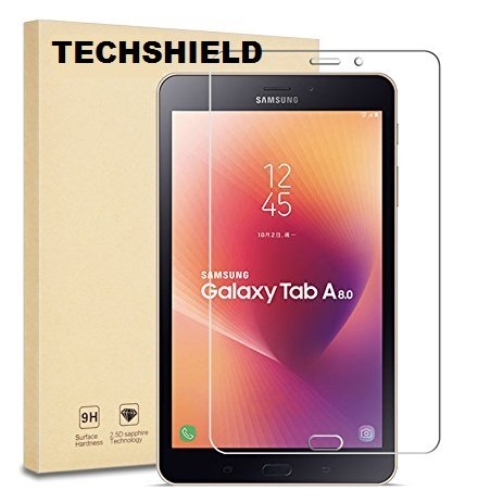 TECHSHIELD T385 2.5D 3m Curved Flexible Edge-To-Edge Tempered Glass Screen Protector for Samsung Tab A 8-inch (Transparent)