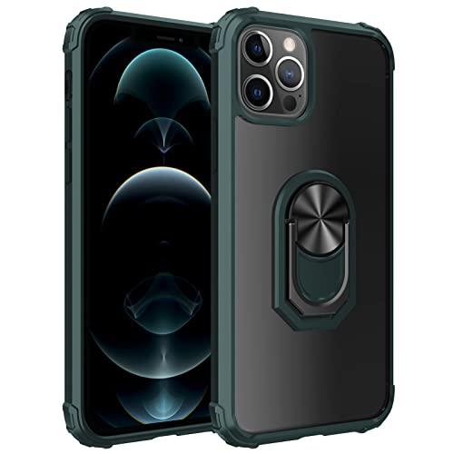 Funda para iPhone 13 Pro con Soporte para Anillo Pata De Cabra, Protección contra Caídas, A Prueba De Golpes, Funda para Teléfono Funda Protectora para Teléfono,Verde,FOR iPhone 13pro