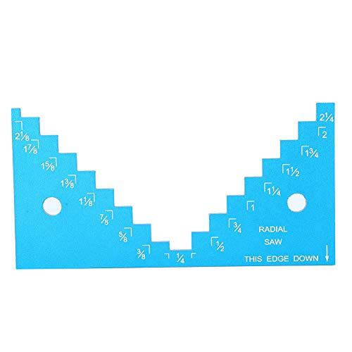 Präzise Tischkreissäge Tiefen-Höhenmesser Tragbarer Oberfräser Tiefenmesser Aluminiumlegierung Kleines Sägeblatt Holzbearbeitung Höhenbegrenzungswerkzeuge für die Holzbearbeitung Messen