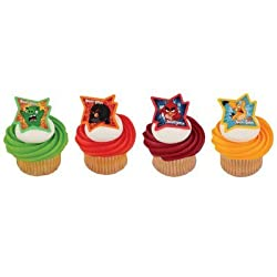 powerful Angry bird Why are you so angry?Cupcake ring-24 pieces