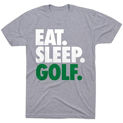 Come. Dormir. golf ChalkTalk Sports - Camiseta de golf - Gris - Large