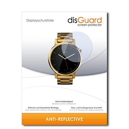 disGuard Displayschutzfolie für Motorola Moto 360 (2015) 42mm [3 Stück] Anti-Reflex, MATT, Entspiegelnd, Extrem Kratzfest, Anti-Fingerabdruck - Displayschutz, Schutzfolie, Panzerfolie