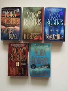 Nora Roberts (Set of 5) Whiskey Beach; The Search; Black Hills; Tribute; Angels Fall