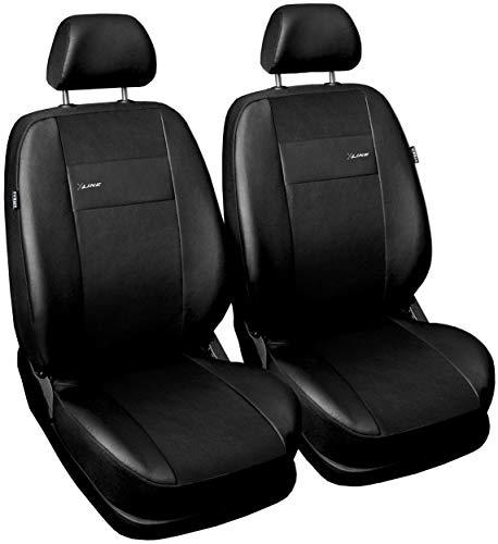 GSC Sitzbezüge Auto Vordersitze Universal Autositzbezüge Schonbezüge Vorne Kunst Leder mit Airbag System X-LINE, kompatibel mit Dacia Duster