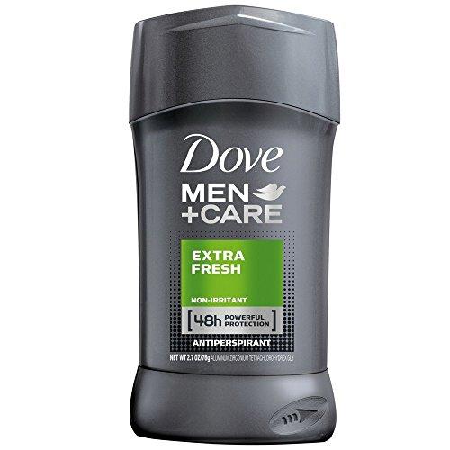 Dove Men + Care 48 Hour Antiperspirant Stick, Extra Fresh, 2.7 Ounces, Pack of 6