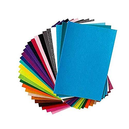 Shuny Fieltro para Manualidades, 40 Colores Fieltro Hojas Colores Poliéster 20 * 30 cm Felt Fabric Placas Fieltro, para Niños, Ideales para Hacer DIY Muñequitos y Manualidades