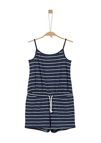 s.Oliver RED LABEL Mädchen Jumpsuit aus Flammgarn-Jersey dark blue stripes 170.REG