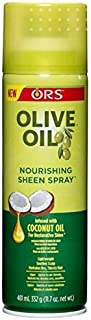 ORS Olive Oil Nourishing Sheen Spray infused with Coconut Oil 11.7 oz (Pack of 3)