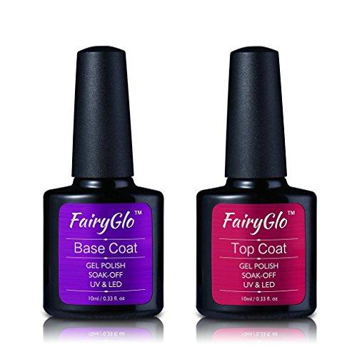 Smalto Semipermanente Smalto per Unghie in Gel UV LED Base e Top Coat Semipermanente Manicure Semipermanente Soak Off 10ml di Fairyglo