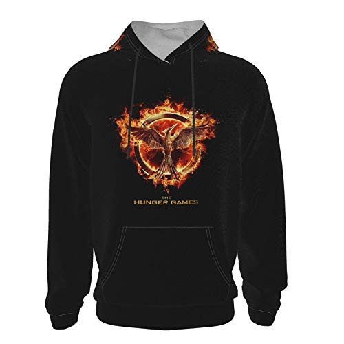 Youth The Hunger Games Mockingjay Hoodie 3D Printed Classic Fashion Characteristic Sweatshirt 14-16 Years Black