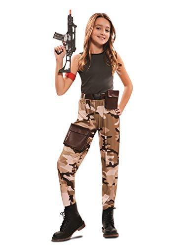 EUROCARNAVALES Disfraz de Soldado de Combate para niña