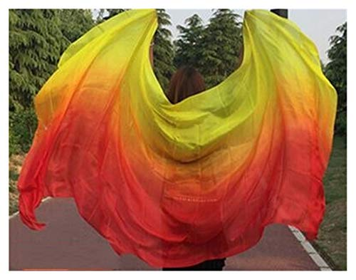 Huiyue Silk Belly Dance Silk Veil Tiro de Mano Bufanda Shaw Shawl Degradado 200 cm 250cm 270cm 300cm Faldas (Color : Sky Blue, Size : 200X90CM)