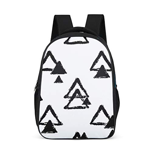 Geometry Child's Bookbag Large All Over Print for School and Travel grey onesize